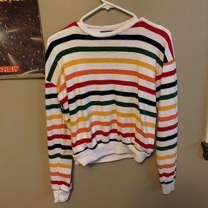 rainbow striped brandy melville top